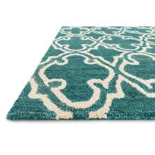 Turquoise Brown Rug A130 Aries Turquoise And Ivory Geometric Rug 5x8 Ft At Home