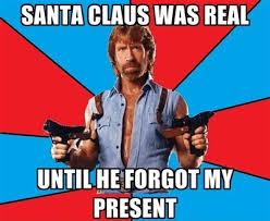 Meme Merry Christmas - santa vs chuck norris my merry christmas