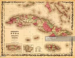 Puerto Rico On A Map by Map Of Cuba Jamaica U0026 Puerto Rico 1862 Pictures Getty Images