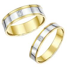 Wedding Rings Sets His And Hers by His And Hers Designer Two Color Gold Wedding Ring Matching Sets