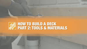 how to build a deck part 1 planning the home depot canada