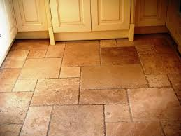 Travertine Kitchen Floor by Cute Brown Color Travertine Tiles Kitchen Floor Come With Grid