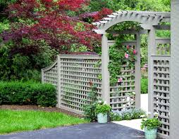 Arch Trellis Fence Panels Lattice Fence Panels Landscape Traditional With Arbor Arched Arbor