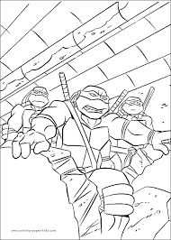 teenage mutant ninja turtles tmnt color coloring pages