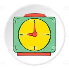 square wall clock icon cartoon style stock vector art 820850308
