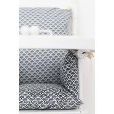 coussin chaise haute bébé en coton enduit imprimé éventails