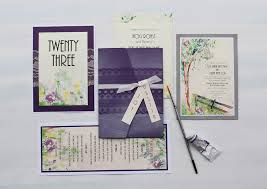 watercolor garden wedding invitations momental designsmomental designs