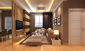 in house image of wood partition in house interior 3d house