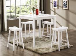 Dining Room Pub Sets 5 Piece Counter Height Dining Pub Set In White Finish By Coaster