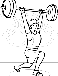 weightlifting coloring page handipoints