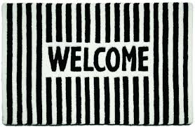 furniture black and white with welcome write doormats for modern