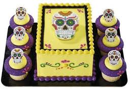 sugar skull cake topper happy sugar skull cake topper with 12 cupcake decoration
