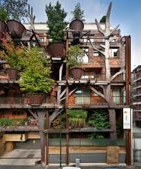 vertical forest an urban treehouse that protect residents from
