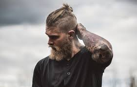 mens hair topknot viking hairstyles for men inspiring ideas from the warrior times
