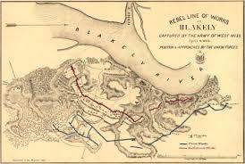 Historic Map Works Rebel Line At Blakely Civil War Trust