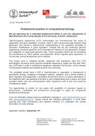 postdoctoral position available in computational biology