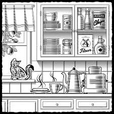 retro kitchen and royalty free cliparts vectors and