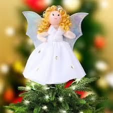 christmas tree angel ourwarm mini angel christmas tree topper 7 inch small