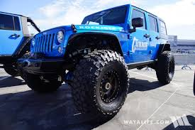rubicon jeep blue 2017 sema currie blue jeep jk wrangler unlimited