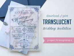 wedding stationery translucent wedding invitation diy with print chic