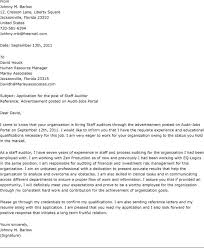 ideas collection cover letter for position in same company on