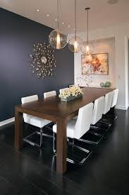 Dining Room Accent Wall  With Contemporary Mirror Founterior - Dining room accent wall