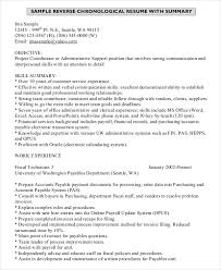 Resume Outline Template Example Of A Chronological Resume Resume Examples And