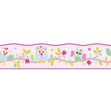 imagenes en blanco y rosa patchwork búho papel pintado y border blanco rosa pastel cuarto