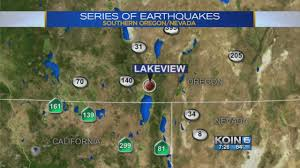 Southern Oregon Map by 4 6 Quake Rattles Southern Oregon After Series