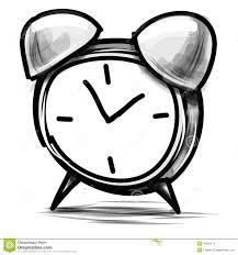 alarm clock cartoon sketch vector illustration stock vector