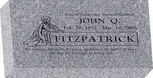 design a headstone 16 x 8 x 3 flat granite headstone honor