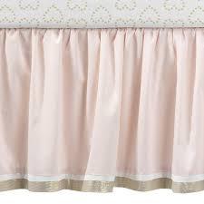 lambs u0026 ivy confetti heart 4 piece crib bedding set pink gold