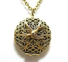 large locket necklace images Filigree locket necklace working compass locket necklace sold jpg