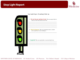 stoplight report template rounding for outcomes customers ppt