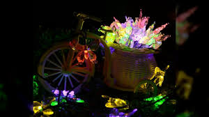 Garland Fairy Lights by Solar Lamps 7m 40leds Colorful Butterfly Garland Fairy Luces