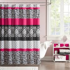 Zebra Shower Curtain by Pink Black U0026 White Zebra Print Teen Bedding Twin Full