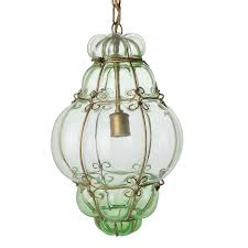 Murano Glass Pendant Lights 507 Antiques Vintage Hand Blown Seguso Murano Glass Cage Pendant