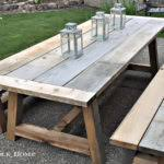 captivating ana white modified simple outdoor dining table diy