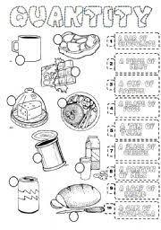 worksheet food quantifiers