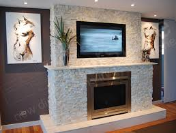Gas Fireplace Mantle by Beautiful Stone Wall With Gas Fireplace And Marble Mantle Home