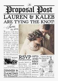 Newspaper Wedding Program Invite Save The Date Vintage Newspaper Wedding Day News
