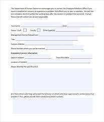 sample civil complaint form sample hostile work environment