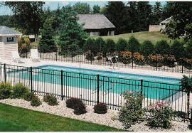 Landscaping Around Pool Love The Fence Around Pool And The Flower Beds Outdoor Spaces