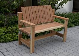 Simple Wood Bench Seat Plans by Diy Outdoor Bench Seat Design