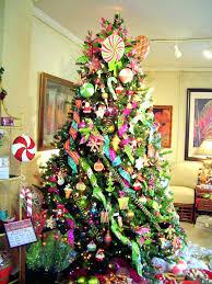 pre decorated trees indoor lit mixed needle black