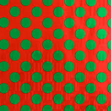 green dots on gift wrap the container store