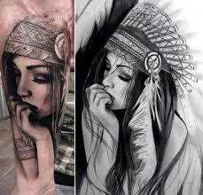 52 female indian chief tattoos