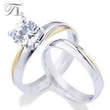 engagement and wedding ring set tl women s fashion engagement wedding rings set friendship pair