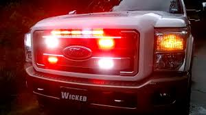 red and white led emergency lights 2011 f 350 red white dual strobe led emergency light www
