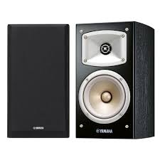 yamaha home theater yamaha nsb330 bookshelf hi fi speaker pair black at gear4music com
